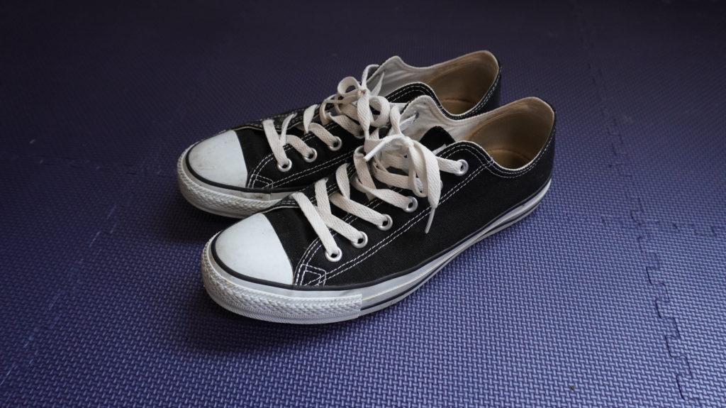筋トレ 靴 コンバース